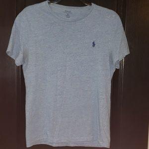 Polo Shirt Heathered Blue size Small
